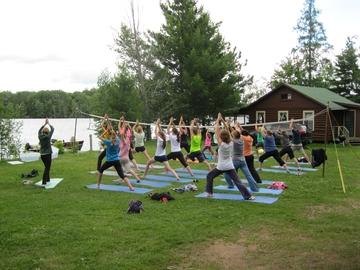 Lakeside Yoga Class at Northland Lodge