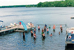 Water Volleyball Activities at Quiet Lakes